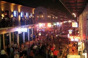 Bourbon Street – never a dull moment.