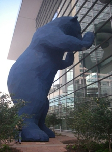 This excellent bear sculpture was standing outside the convention center in Denver. How could anyone NOT have fun here?