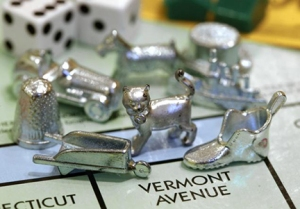 Latest Monopoly news: they've ditched the iron for a cat!Photo courtesy of Steven Senne, Associated Press
