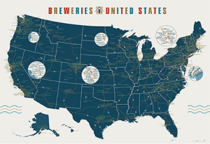 In need of wall art? Check out this excellent brewery map from Pop Charts Lab!