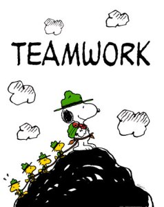 Snoopy Teamwork